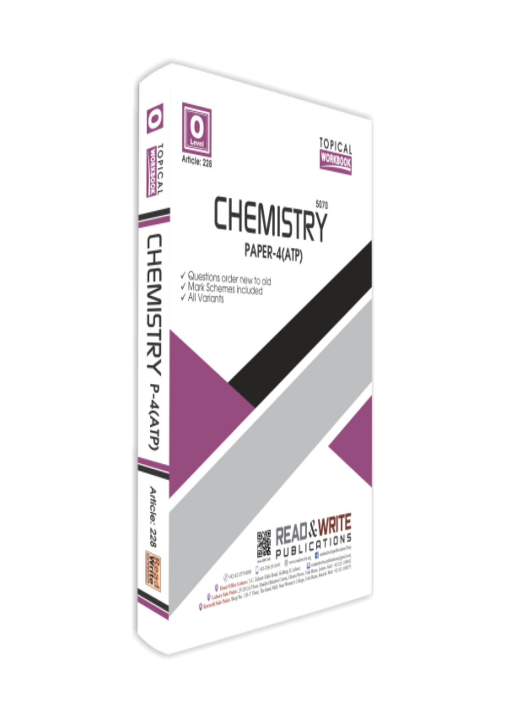 Cambridge O-Level Chemistry (5070) P-4 ATP (Topical) Worked by Editorial Board R&W 228