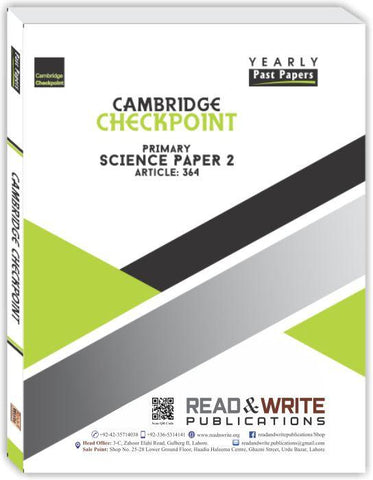 Cambridge Checkpoint Primary Science Paper-2 (Yearly) by Editorial Board R&W 364