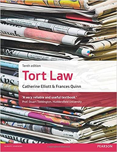 Cambridge AS/A-Level Tort Law (9084) by Catherine Elliott & Frances Quinn (Low Price Edition)