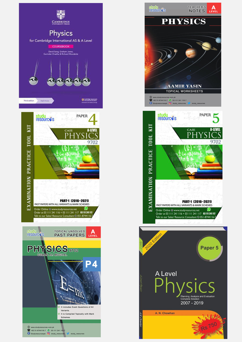 Cambridge A-Level Physics (9702) Exam Success Resource Bundle (CUSTOMIZABLE)