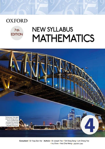 Cambridge O-Level New Syllabus Mathematics Book 4 (D4) (4024) CourseBook