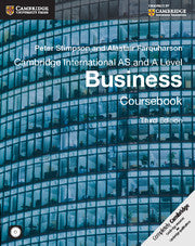 Cambridge AS/A-Level Business (9609) Coursebook (Third Edition) Low Price Edition