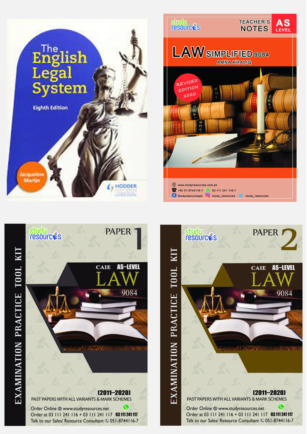 Cambridge AS-Level Law (9084) Exam Success Resource Bundle (CUSTOMIZABLE)