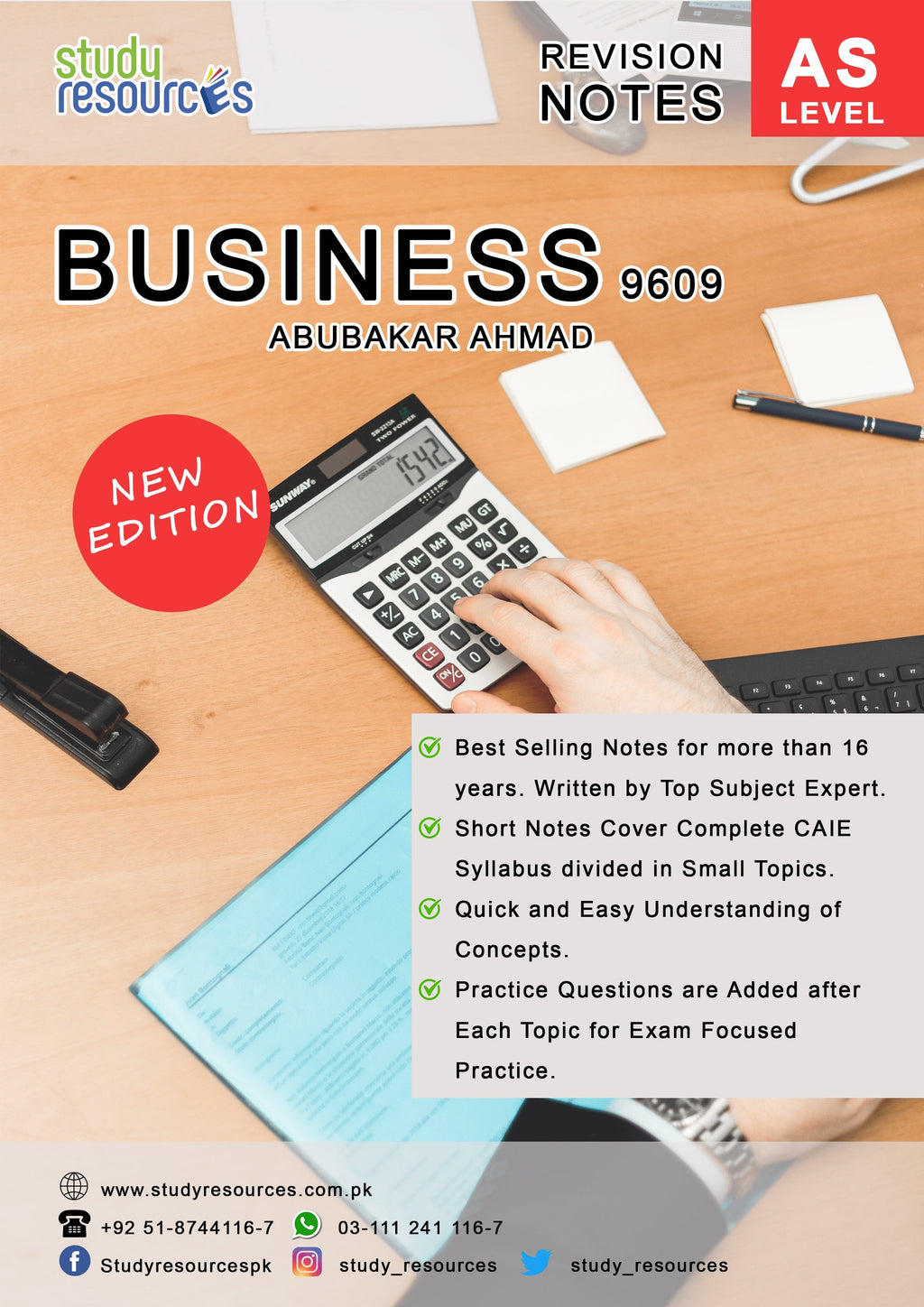 Cambridge AS-Level Business (9609) Revision Guide by Sir. Abubakar Ahmad.