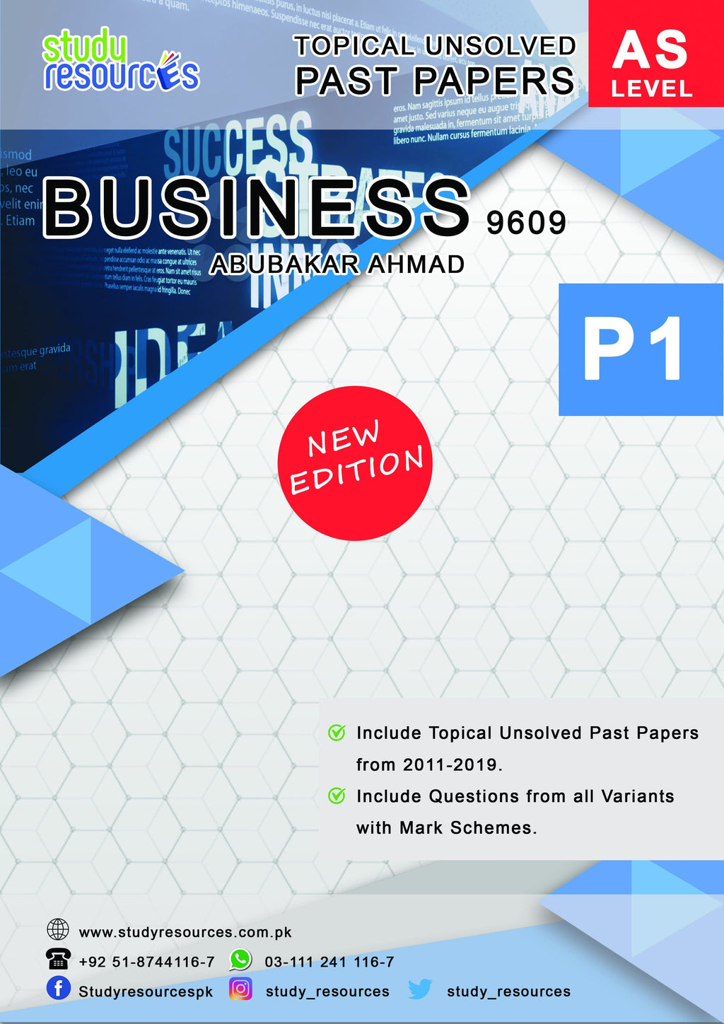 Cambridge AS-Level Business (9609) Topical Papers P-1 by Sir. Abubakar Ahmad