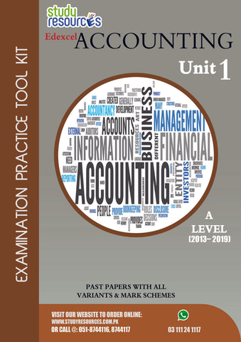 Edexcel A-Level Accounting Unit-1 Past Papers (2013-2019)