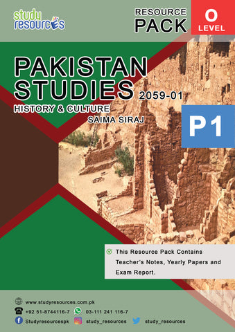 Cambridge O-Level Pakistan Studies (2059) History & Culture of Pakistan Resource Pack Paper-1 by Ma'am Saima Siraj