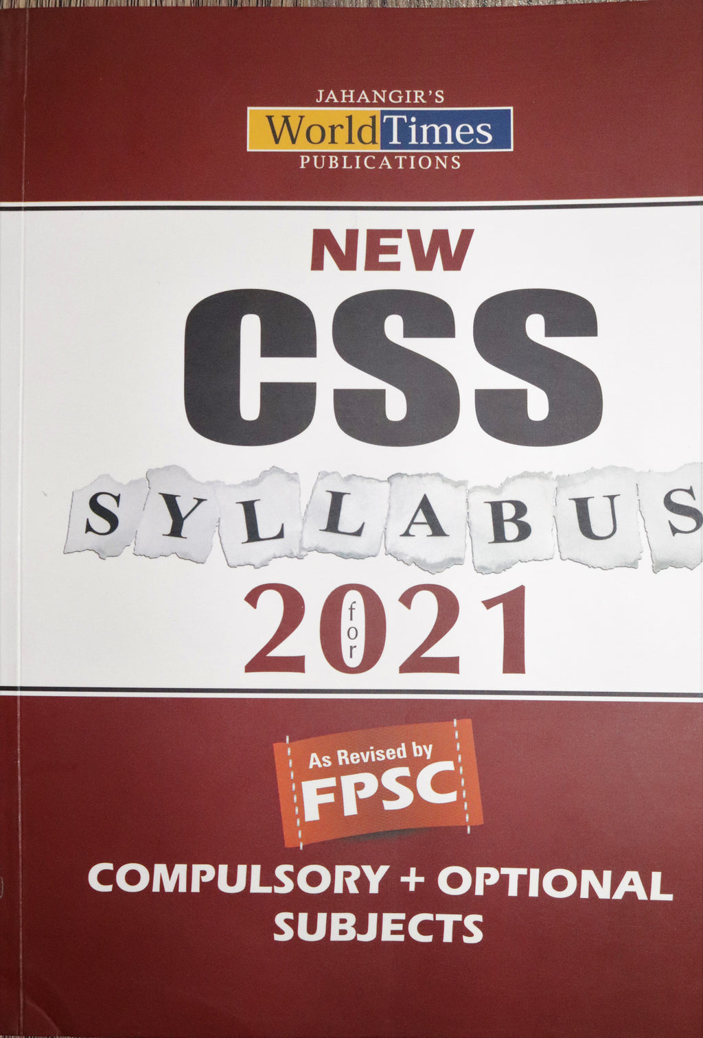 New CSS Syllabus for 2021 Compulsory & Optional Subjects Book