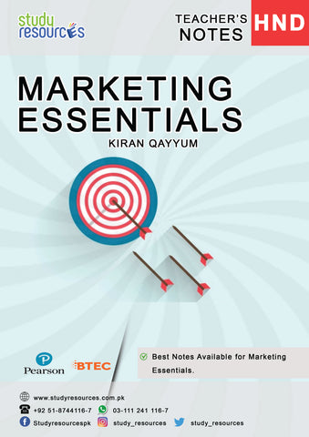 Marketing Essentials By Ma'am Kiran Qayyum