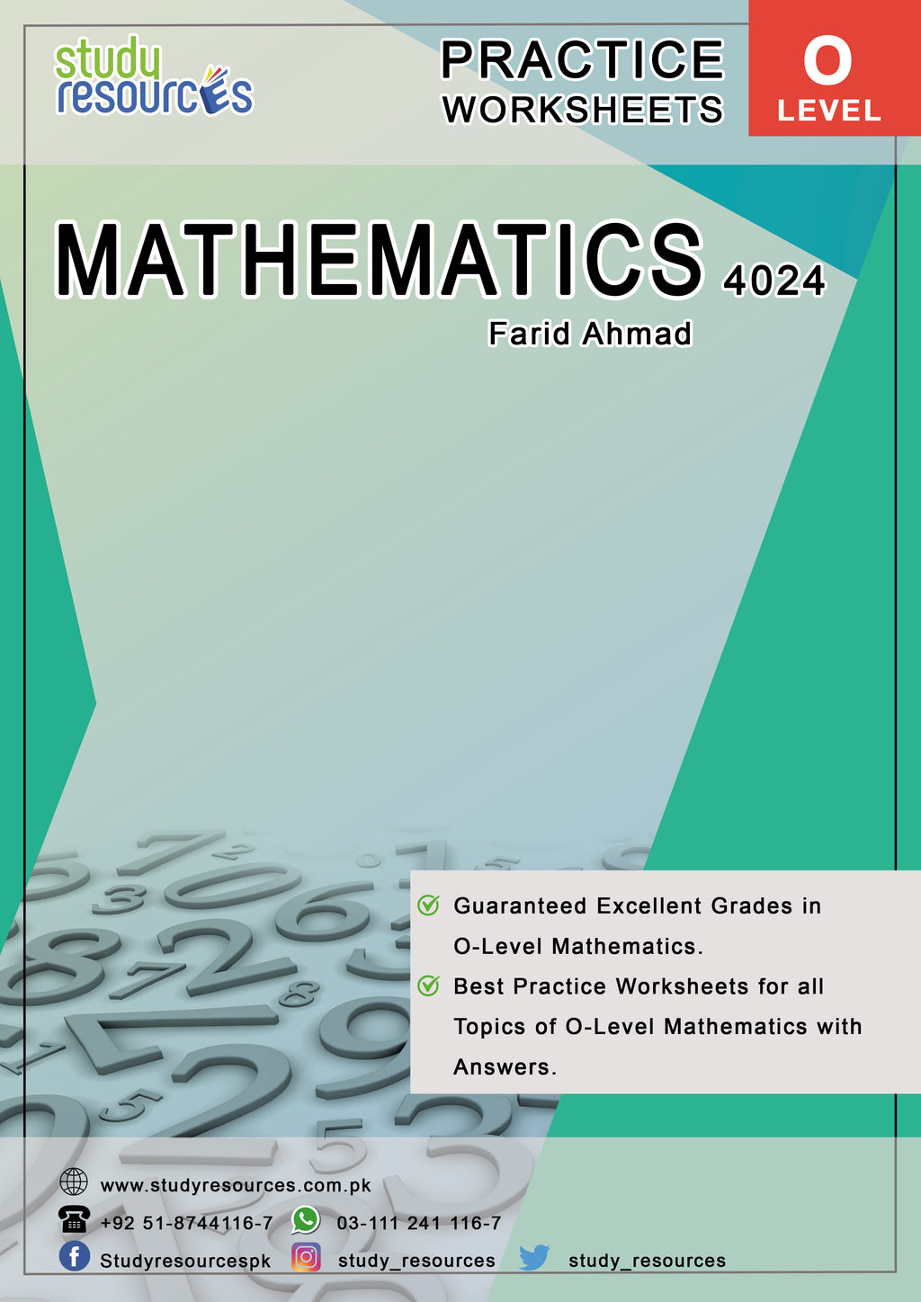 Cambridge O-Level Mathematics (4024) Practice Worksheets By Sir. Farid Ahmad