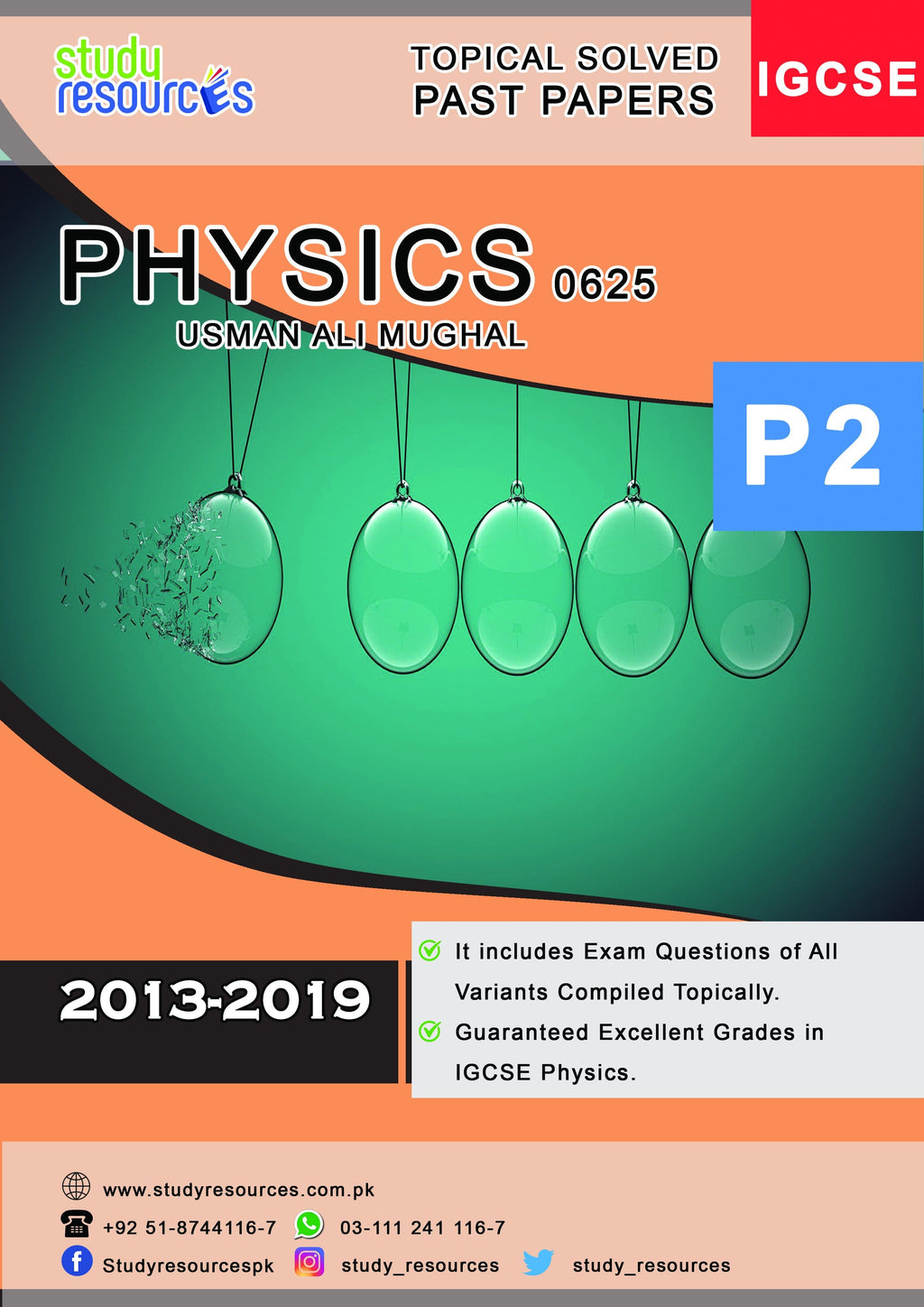 Cambridge IGCSE Physics (0625) Topical MCQs Paper-2 (2013-2019) by Sir. Usman Ali Mughal