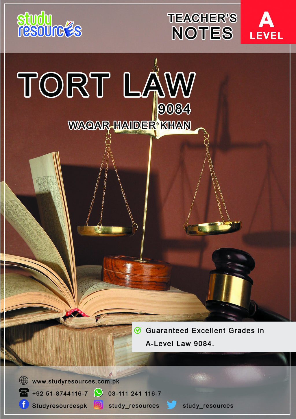 Cambridge A-Level (9084) Tort Law Recommended by Sir Waqar Haider Khan