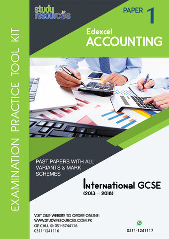 Edexcel IGCSE Accounting P-1 Past Papers (2013-2018)