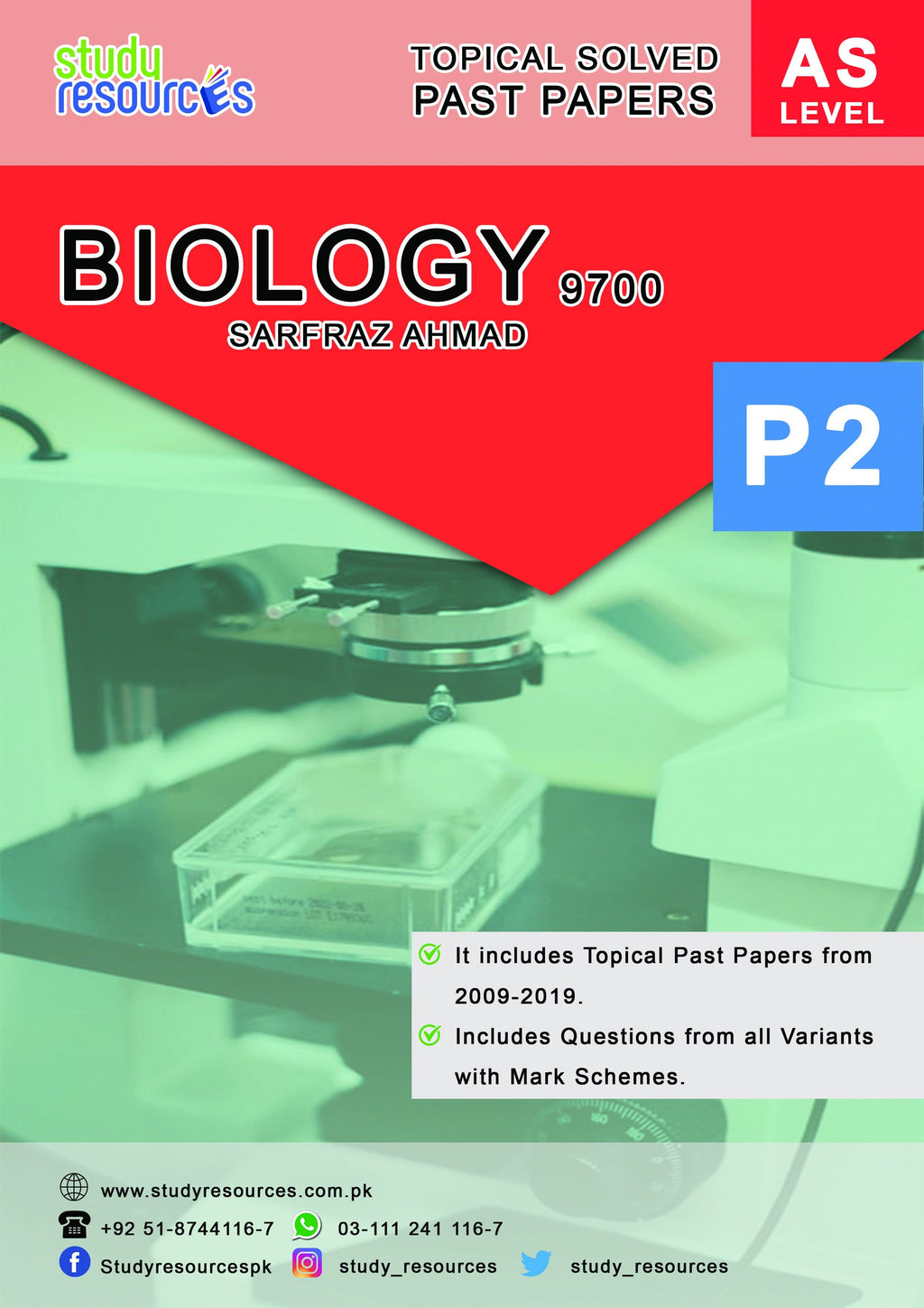 Cambridge AS-Level Biology (9700) Topical Paper-2 by Sir. Sarfraz Ahmad