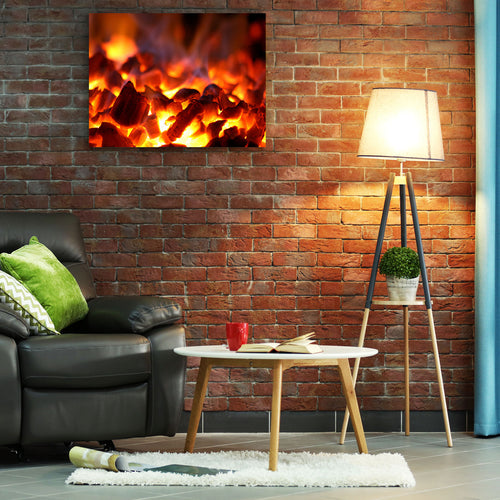 500 Watt Far Infrared Printed Aluminium Panel Heater | Fire