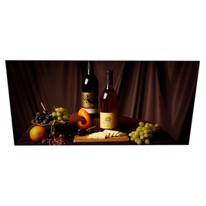 Aluminium Printed Panel Heater 800W - Wine and Cheese