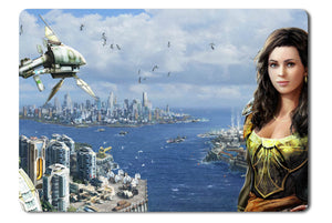 Mouse pad  Game Anno 2070 01- 21.5 X 27 X 0.3cm