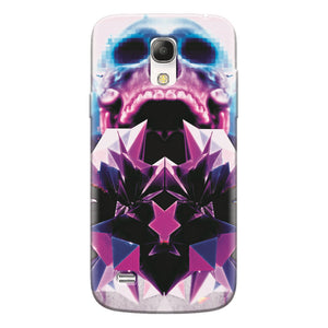 Husa silicon pentru Samsung Galaxy S4 Mini, Abstract Framed Skull