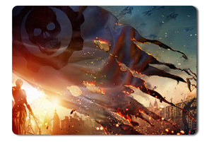 Mouse pad  Game Gears Of War Judgment 01- 21.5 X 27 X 0.3cm