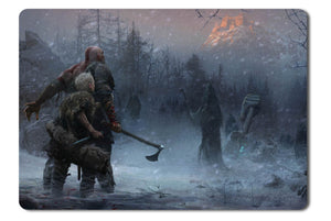 Mouse pad  Game God Of War 2017 02- 21.5 X 27 X 0.3cm