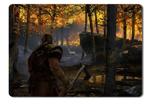 Mouse pad  Game God Of War 2017 04- 21.5 X 27 X 0.3cm