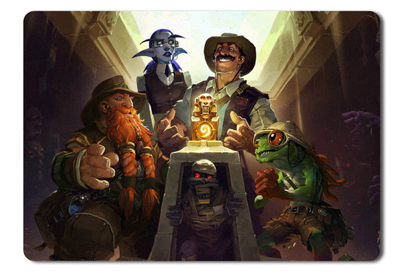 Mouse pad  Game Hearthstone Heroes Of Warcraft   The League Of Explorers 01- 21.5 X 27 X 0.3cm