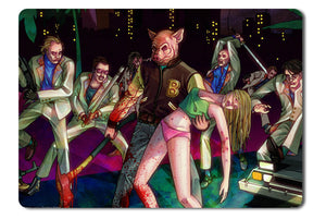 Mouse pad  Game Hotline Miami 01- 21.5 X 27 X 0.3cm