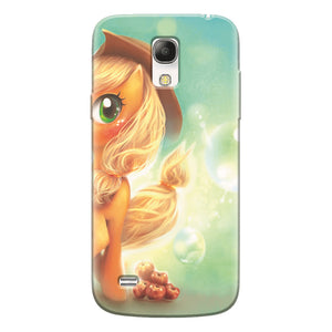Husa silicon pentru Samsung Galaxy S4 Mini, Applejack Pony Cute K