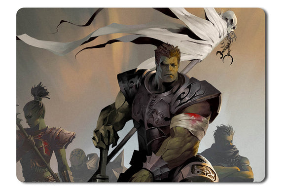 Mouse pad  Game Lineage 2 The 2nd Throne   Gracia 01- 21.5 X 27 X 0.3cm