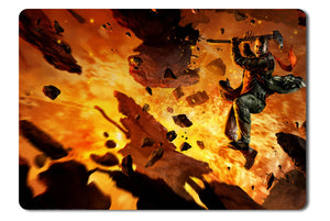 Mouse pad  Game Red Faction Guerrilla Re Mars Tered 01- 21.5 X 27 X 0.3cm