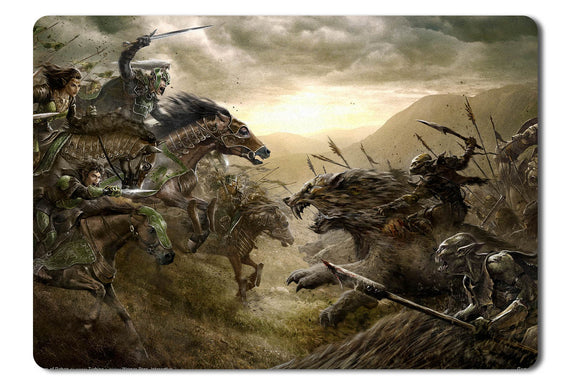 Mouse pad  Game The Lord Of The Rings Online Riders Of Rohan 01- 21.5 X 27 X 0.3cm
