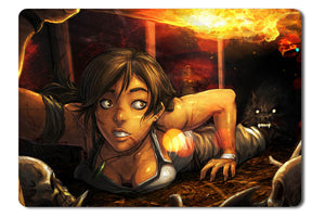 Mouse pad  Game Tomb Raider 15   Year Celebration 01- 21.5 X 27 X 0.3cm