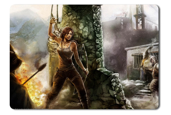 Mouse pad  Game Tomb Raider Fan Art 02- 21.5 X 27 X 0.3cm