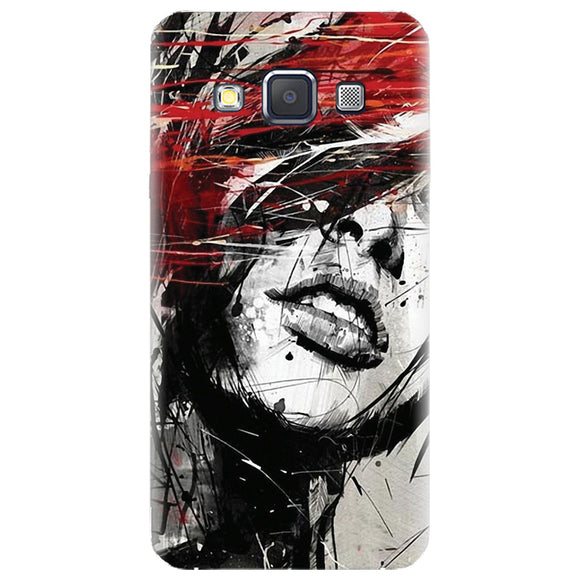 Husa silicon pentru Samsung Galaxy A3, Byroglyphics Woman Drawing