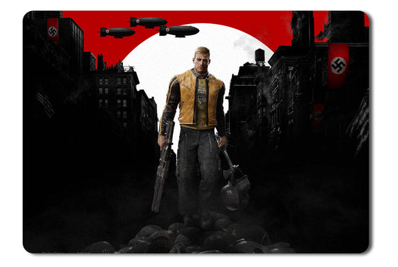 Mouse pad  Game Wolfenstein 2 The New Colossus 01- 21.5 X 27 X 0.3cm