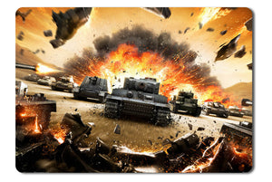 Mouse pad  Game World Of Tanks 01- 21.5 X 27 X 0.3cm