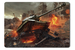 Mouse pad  Game World Of Tanks 08- 21.5 X 27 X 0.3cm