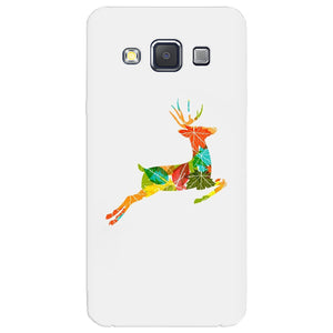 Husa silicon pentru Samsung Galaxy A3, Colorful Reindeer Jump Illustration