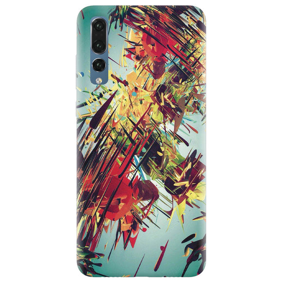 Husa silicon pentru Huawei P20 Pro, Complex Abstract Colorful 3D Drawing