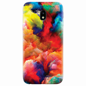 Husa silicon pentru Samsung Galaxy J7 Pro 2017, Oil Painting Colorful Strokes