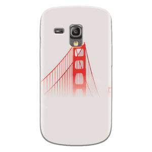 Husa silicon pentru Samsung Galaxy S3 Mini, Red Bridge In Clouds