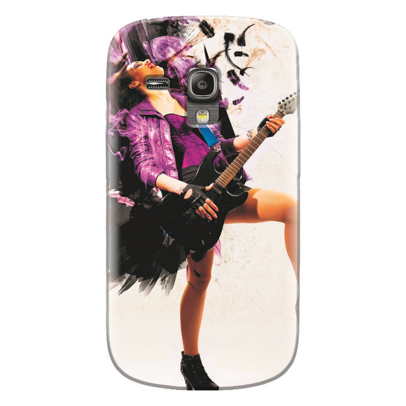 Husa silicon pentru Samsung Galaxy S3 Mini, Rock Music Girl