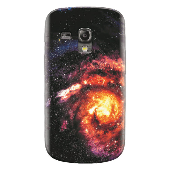 Husa silicon pentru Samsung Galaxy S3 Mini, Spiral Galaxy Illustration