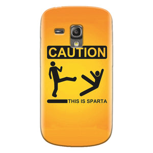 Husa silicon pentru Samsung Galaxy S3 Mini, This Is Sparta Funny Illustration