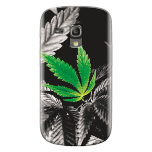 Husa silicon pentru Samsung Galaxy S3 Mini, Trippy Pot Leaf Green