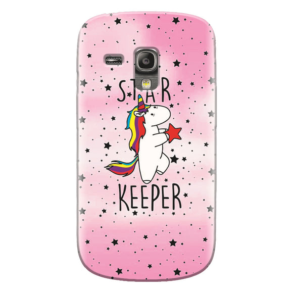 Husa silicon pentru Samsung Galaxy S3 Mini, Unicorn Star Keeper