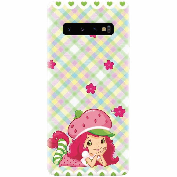 Husa silicon pentru Samsung Galaxy S10, Strawberry Girl