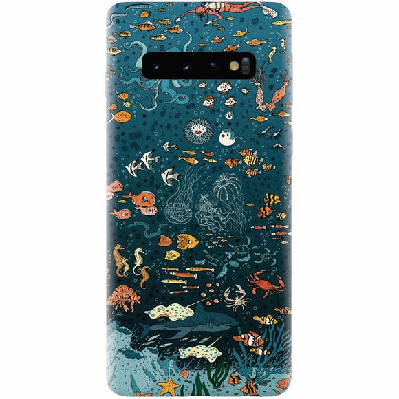 Husa silicon pentru Samsung Galaxy S10, Under The Sea