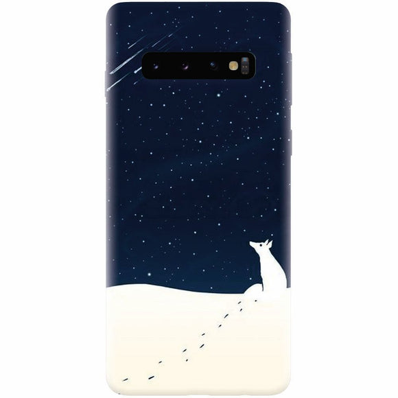 Husa silicon pentru Samsung Galaxy S10, Winter Night