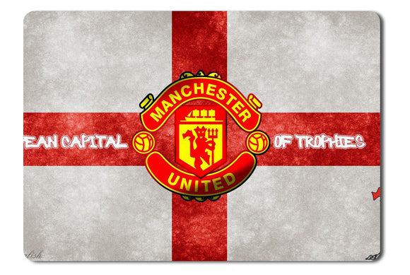 Mouse Pad England Football Logos Manchester United Fc Red Devils - 21.5 x 27 x 0.3cm